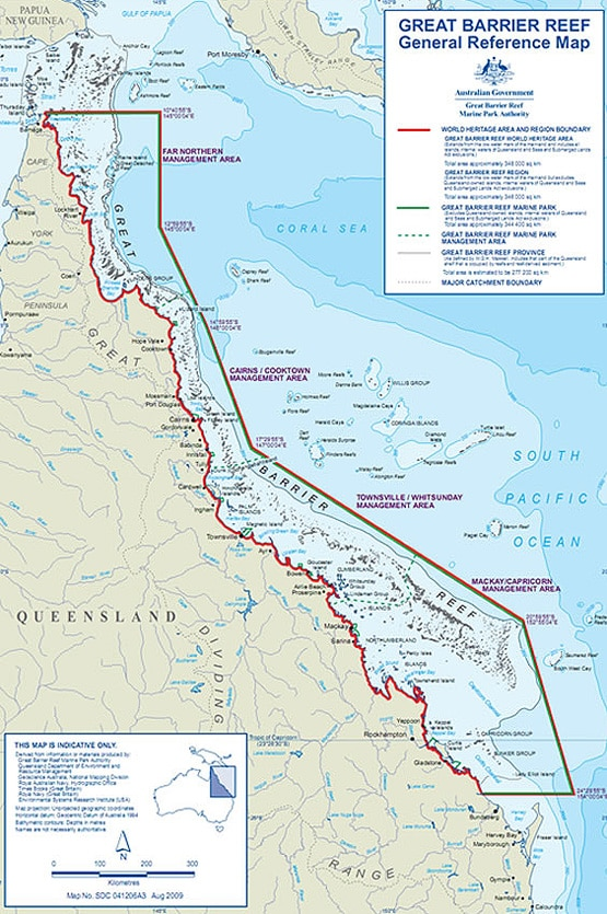 Where is the Great Barrier Reef Located Queensland Australia