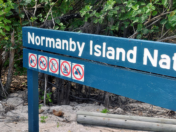 Normanby Island is a National Park
