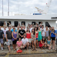 Happy divers and crew - end of trip