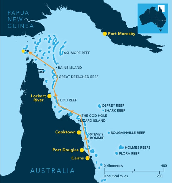 Spirit of Freedom Far North Dive Expedition Map